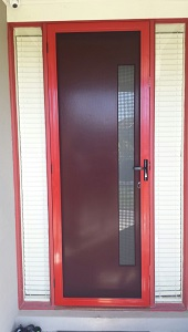 Aluminium security door in Burwood