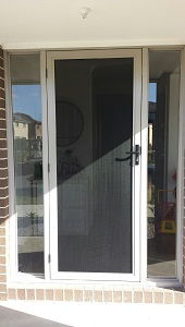 Aluminium security door in Keysborough