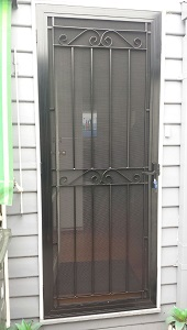 Aluminium security door with-steel grille in Mordialloc