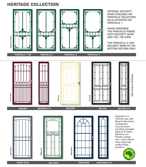Aluminium Doors Melbourne Aluminium Door With Grille